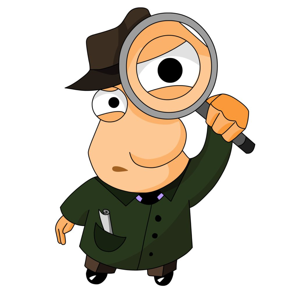 detective with magnifying
