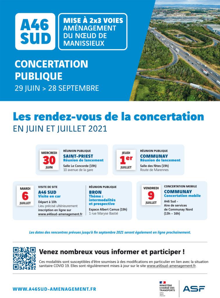 Concertation A46Sud affiche